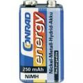 Akumulátor Conrad energy 9 V NiMH, 250 mAh