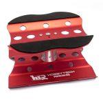 Kovový otočný montážný stojánek pro 1/10 a 1/8 modely - červený
