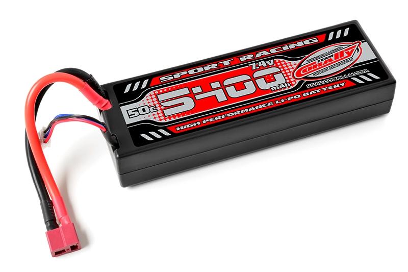 Sport Racing 50C - 5400mAh-7,4V-LiPo Stick Hardcase-T-DYN