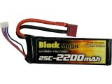 Black Magic LiPol 11.1V 2200mAh 25C Deans