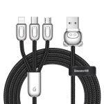 Kabel USB Baseus Rapid Series 3v1 1.2m