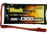 Black Magic LiPol 3.7V 1300mAh 20C JST