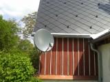 Naše práce - Instalace 85 cm satelitu pro 4 televize v barvě střechy 2015