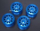 Tamiya CC-01 ALU sada disků 4ks - modrý elox