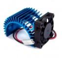 ALU chladič 540 motoru s větráčkem - titan
