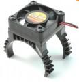 Super lehký chladič motoru s větráčkem - černý