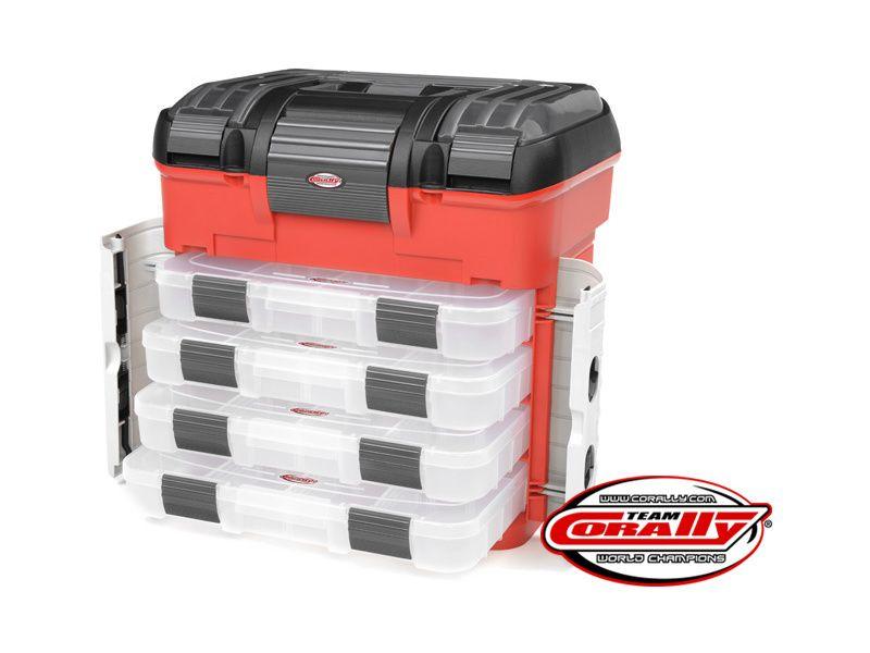 Corally přepravní kufr Pit Car se 4 šuplíky