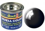 Barva Revell syntetická 14ml - černá lesklá č.7
