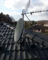 Naše práce - Instalace 80 cm satelitu a DVB-T antény 2016
