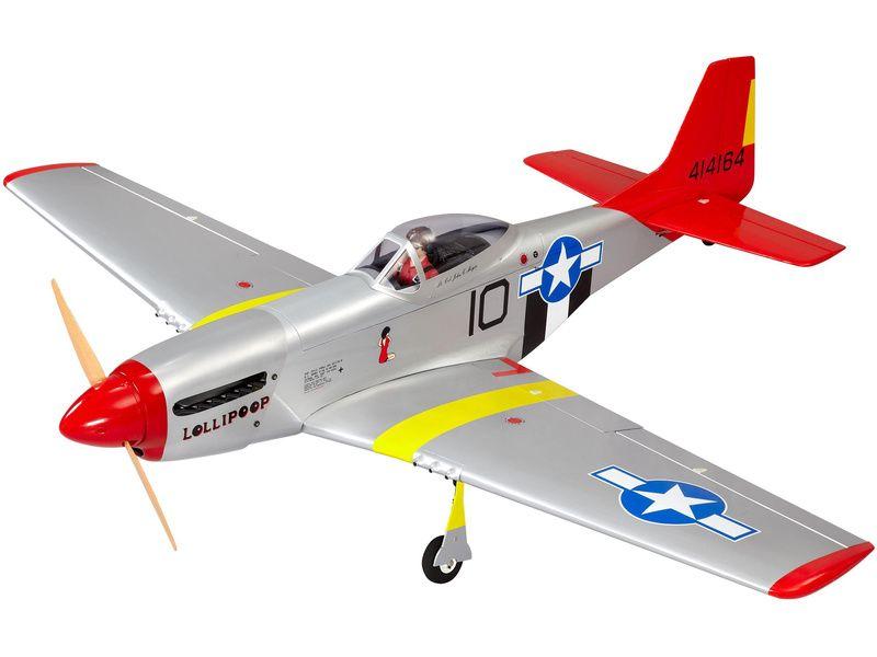 P-51D Mustang 20cc ARF červený