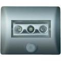 LED noční světlo s pohybovým senzorem OSRAM Nightlux, 0.3 W, barva světla bílá, stříbrná
