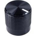 Otočný knoflík Cliff FC7223, pro sérii KM15, 6 mm, s drážkováním, černá
