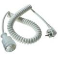 Prodlužovací spirálový kabel AS Schwabe, 2,5 m, bílá