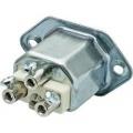 Vestavná síťová IEC zásuvka C22 Kalthoff T 155, 250 V, 16 A, kovová, 444055