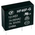 Síťové relé Hongfa HF46F-G/024-HS1, 10 A , 30 V/DC/ 277 V/AC , 2770 VA/ 300 W