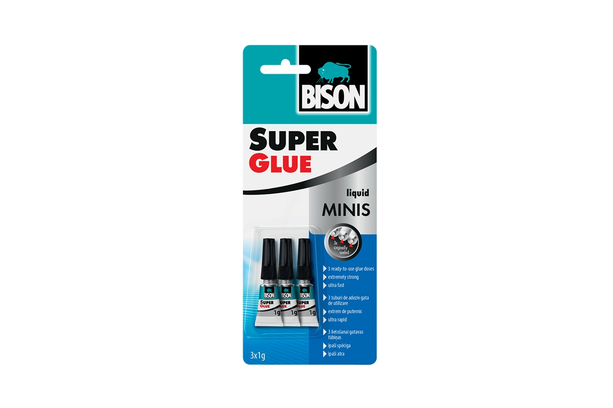 BISON SUPER GLUE MINIS 3 x 1g