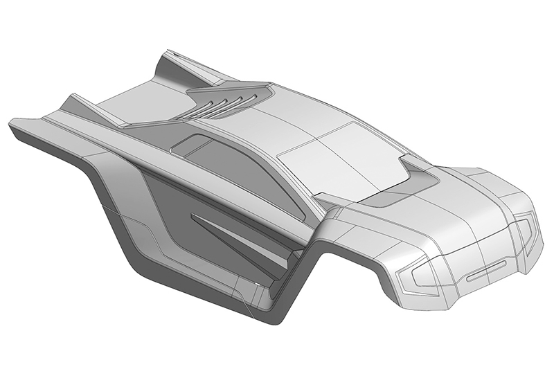 Čirá lexanová karoserie SHOGUN XP 6S, vystřižená, 1 ks.