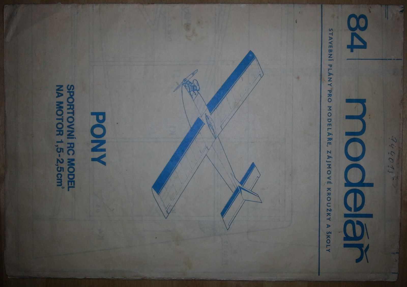 Sportovní RC model na motor 1,5-2,5 ccm NAŠE VOJSKO