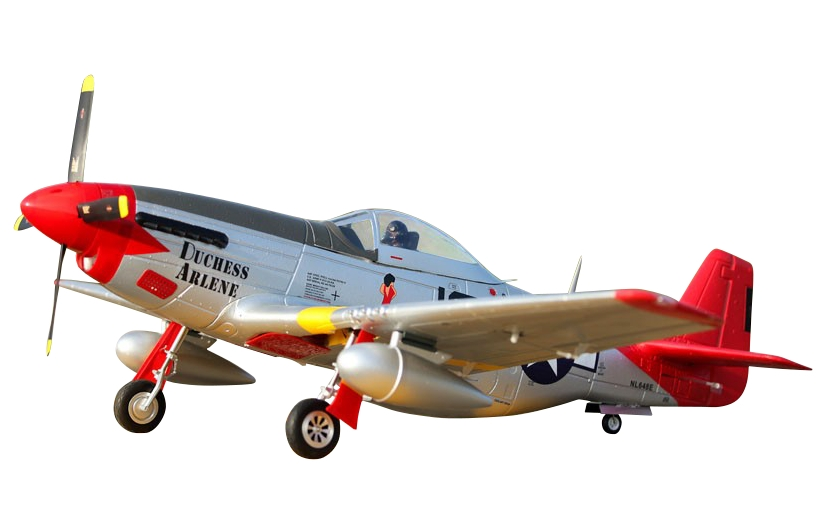 """P-51D Mustang """"Red Tail"""" V8 - ARF"""