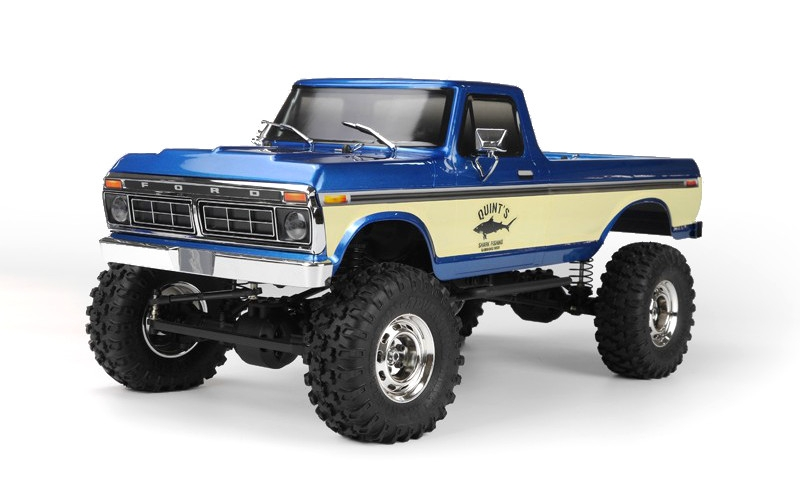 SCA-1E 1976 FORD F150 truck RTR, modrý (rozvor 324mm), Officiálně licencovaná karoserie