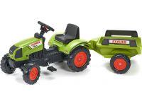FALK - Šlapací traktor Claas Arion 410 s vlečkou