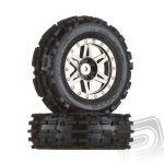 """""""dboots"""" Sand Scorpion XL přední kola, černý/chrom disky, nalepené, (2 ks.)"""