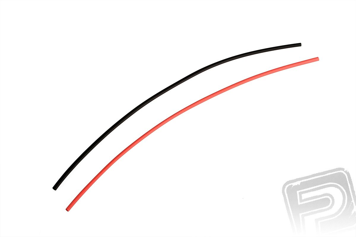 Smršťovací bužírka průměr 2,4 mm (1,2 cm) (50 cm) černá