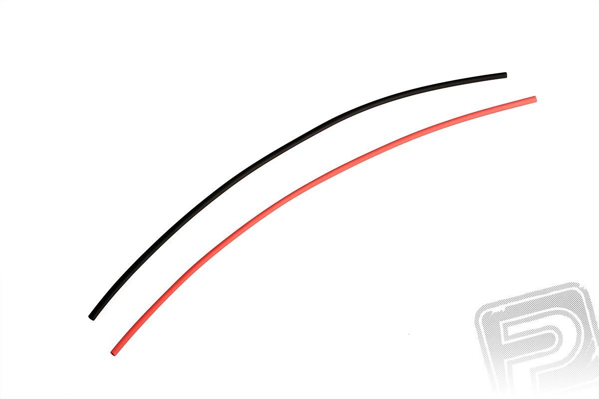 Smršťovací bužírka průměr 2,4 mm (1,2 cm) (50 cm) červená