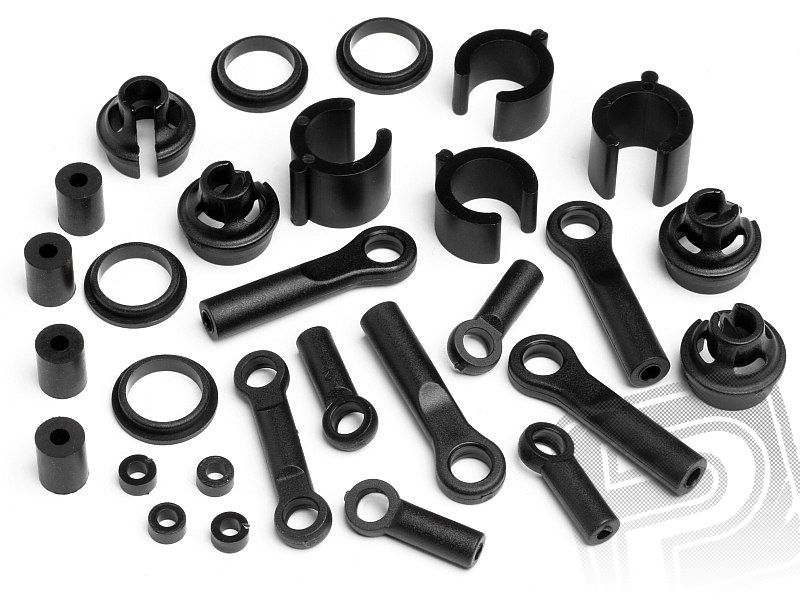 Shock end/rod and parts set