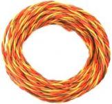 Kabel třížilový kroucený tlustý JR 0.34mm2 (PVC)