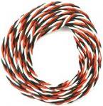 Kabel třížilový silikonový kroucený tlustý FU 0.5mm2 s 1x bílý kabel