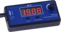 Servo Tester 3v1 -  analog/digitál/ESC, 3 módy frekvencí, 3 funkce