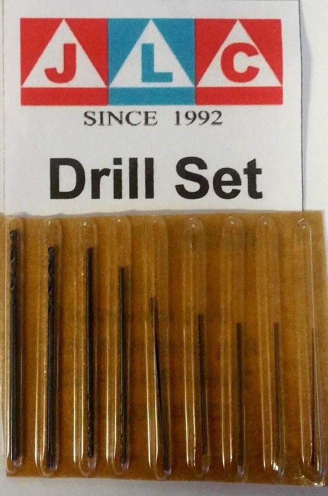Drill Set JLC 0,2-1mm sada 9 vrtáků