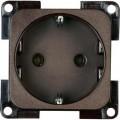Zásuvka Inprojal Elektrosysteme, zásuvka německého typu (Schuko), 16 A, 250 V/AC, hnědá
