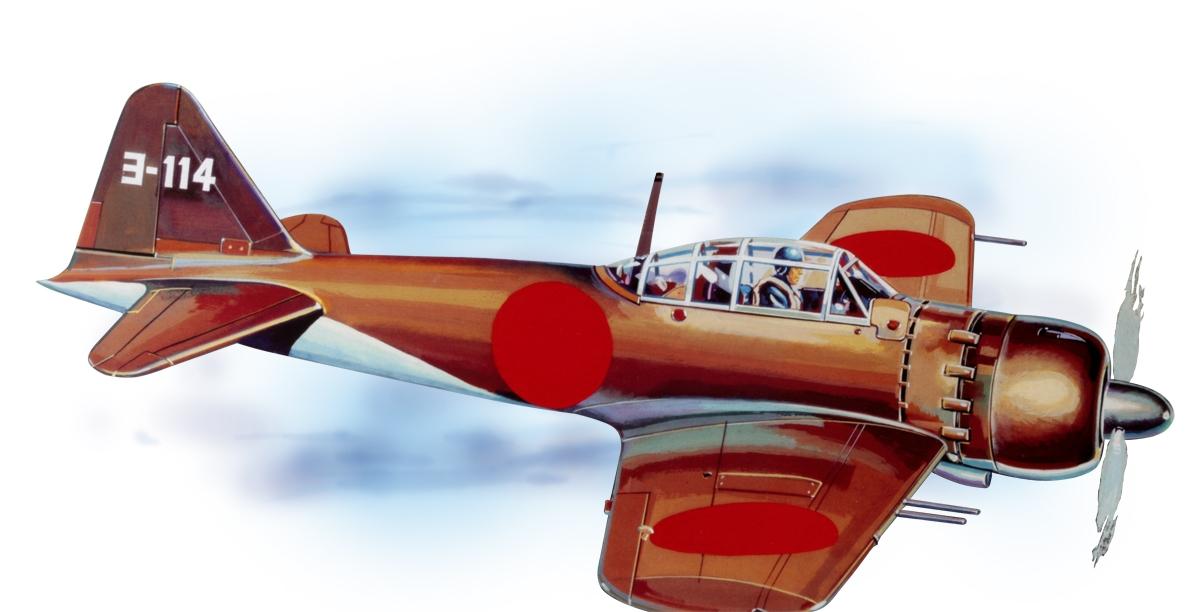Mitsubishi A6M Zero (702mm) -laser.vyřezávaný