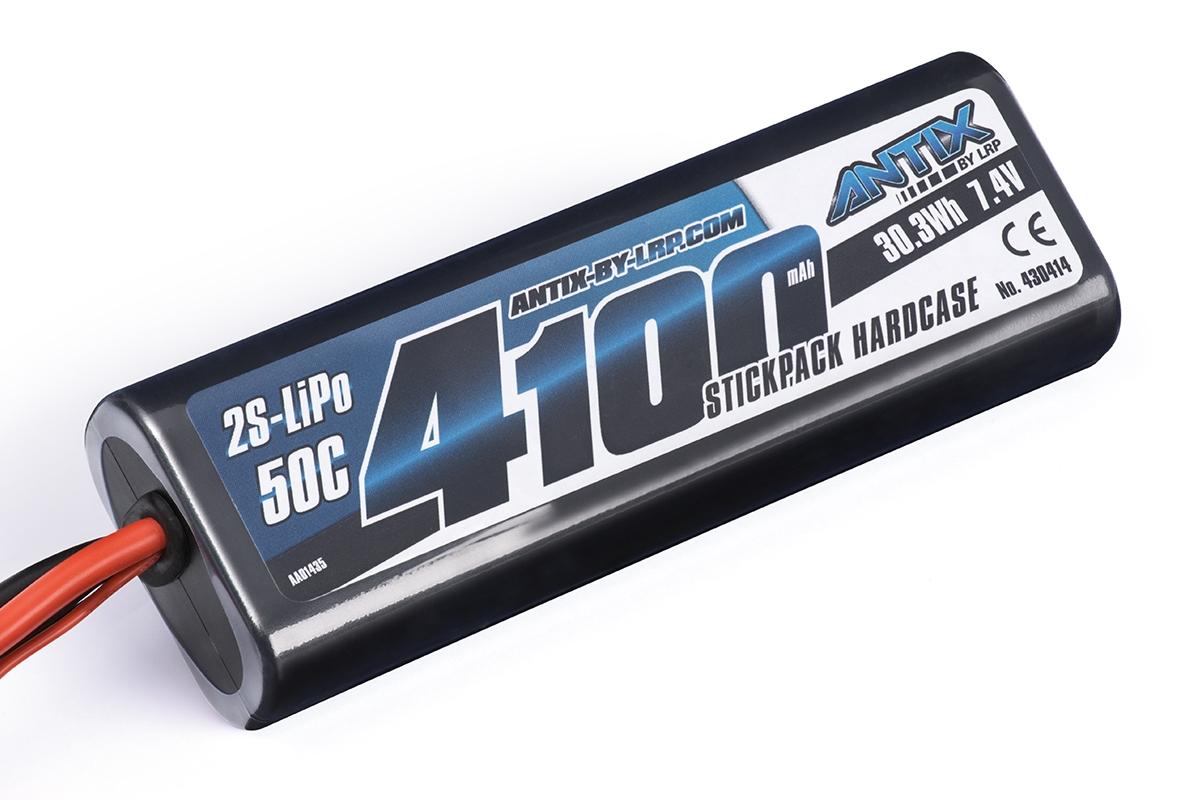 ANTIX by LRP 4100mAh - 7.4V - 50C LiPo Car Stickpack Hardcase - T-DYN konektor
