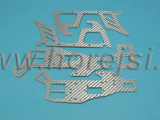 hlavní rám OYA - karbon stříbrná