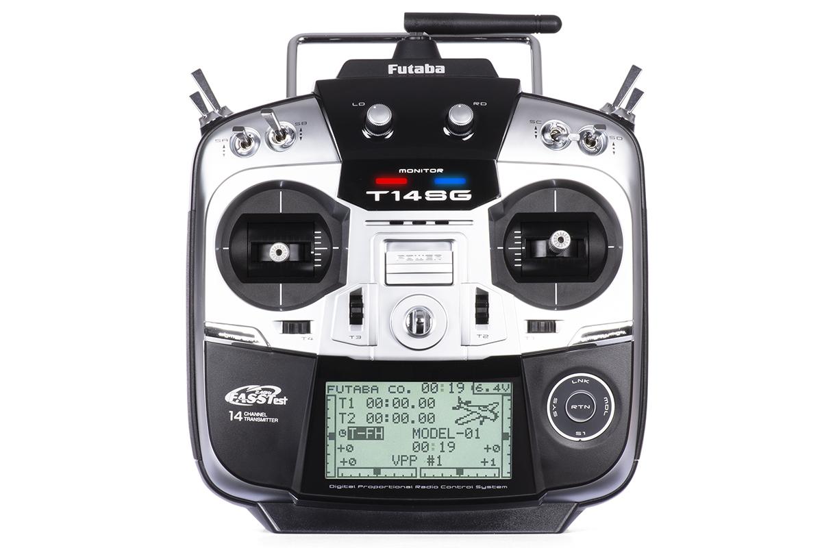 Futaba 14SG, přijímač R7008SB (mode 1)