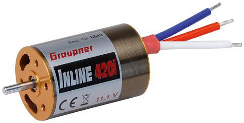Inline 420i 11,1V inrunner brushless motor