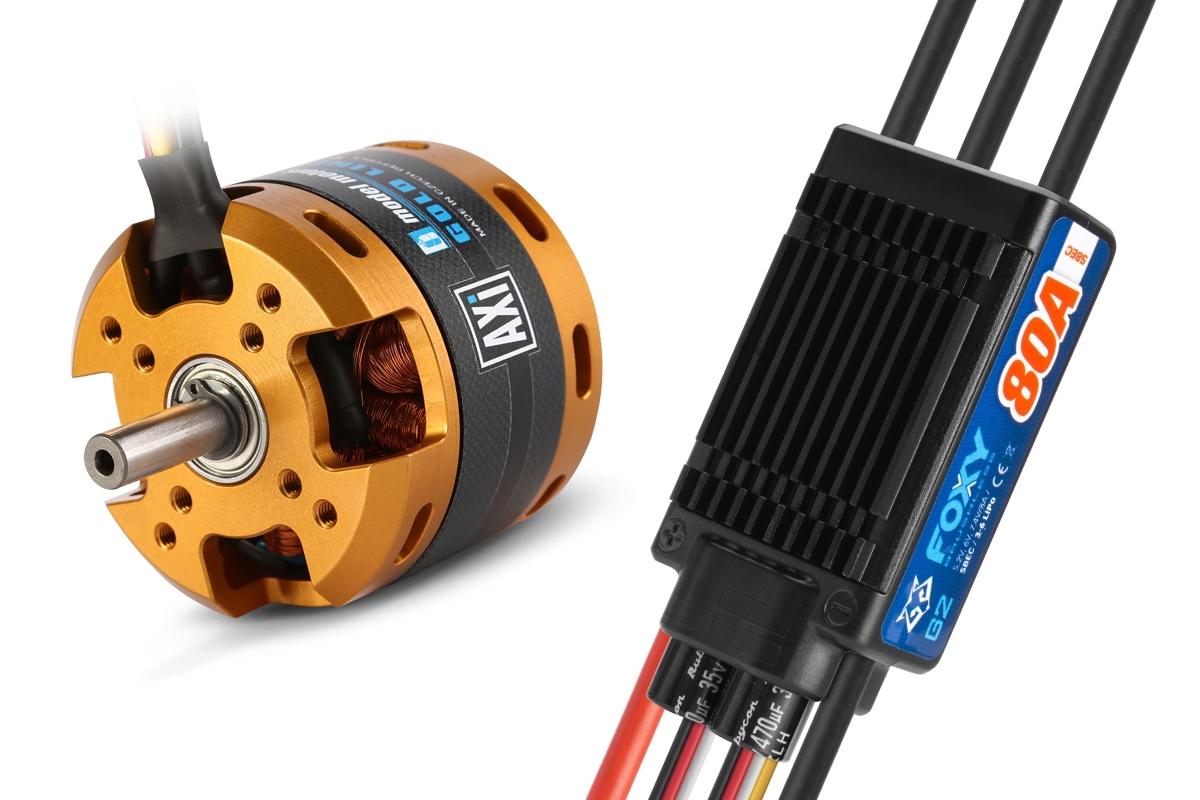 Combo set AXI 4130/16 V2 + FOXY G2 80A regulátor