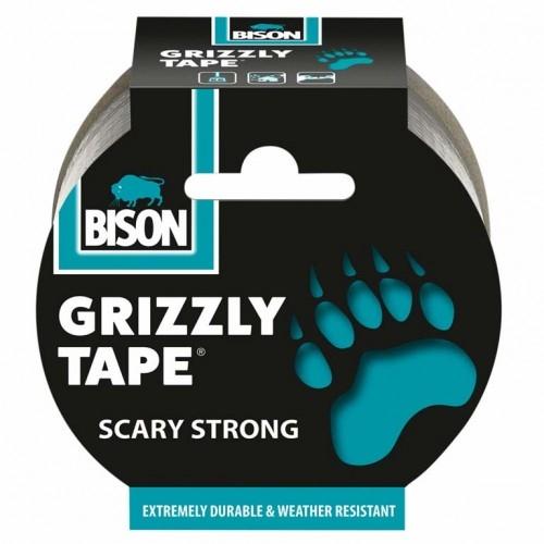 BISON Grizzly tape 50mm,10m Stříbrná