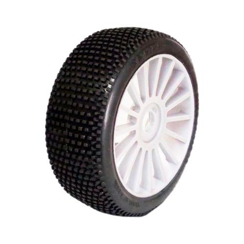 1/8 RICKY SPORT gumy nalepené gumy, bílé disky, 2ks.