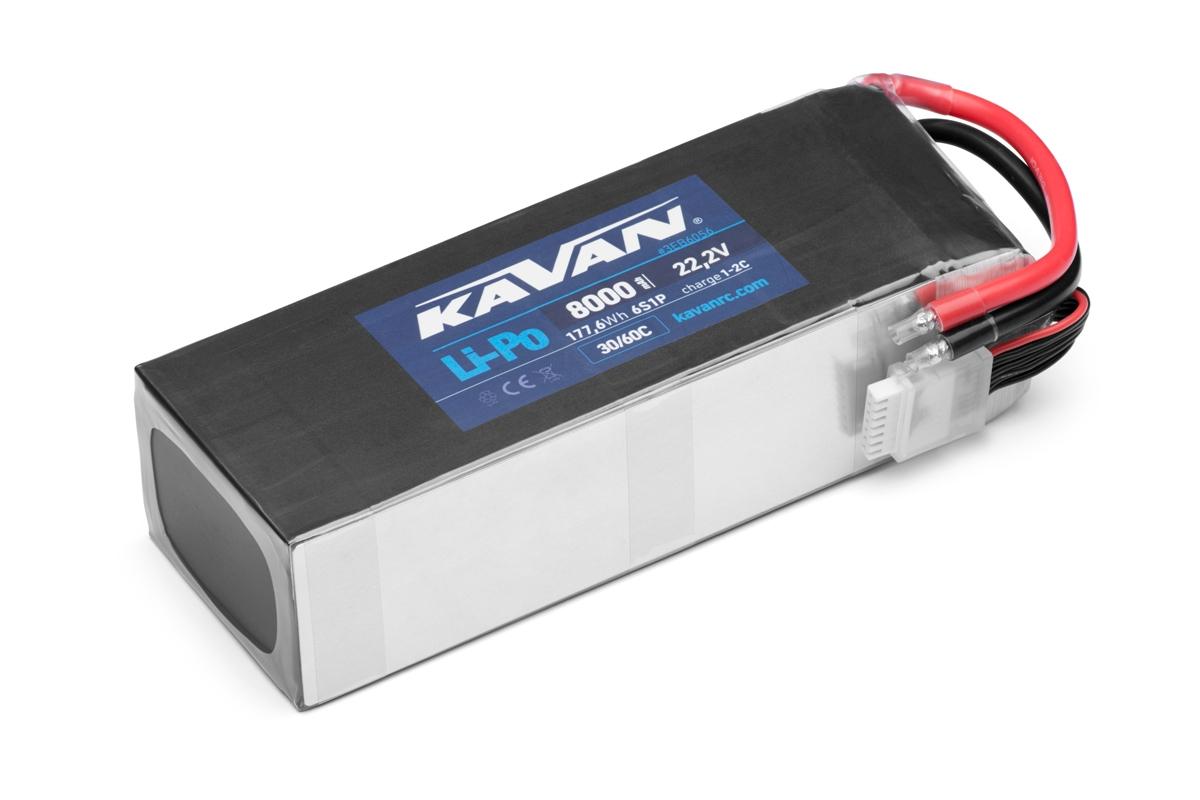 KAVAN - Li-Po 8000 mAh/22,2 V 30/60C, 177,6 Wh