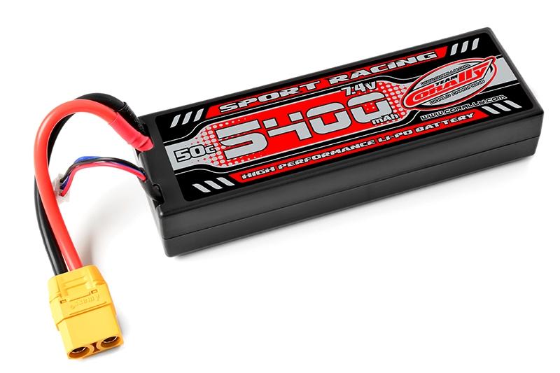Sport Racing 50C - 5400mAh-7,4V-LiPo Stick Hardcase-XT90