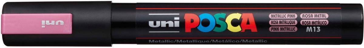 Akrylový popisovač UNI POSCA PC-5M 1,8-2,5mm - růžová metalíza