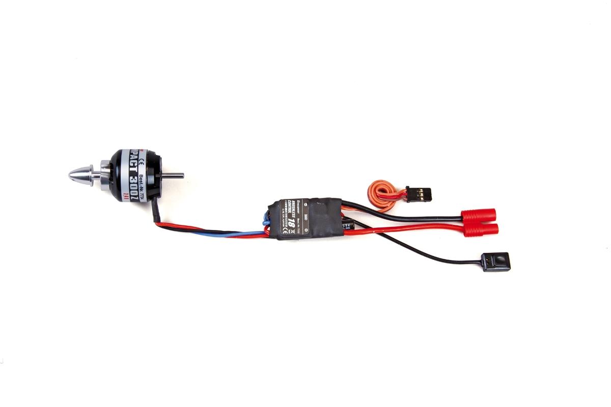 Combo set COMPACT 300 7.4V motor + 18Amp BEC regulace