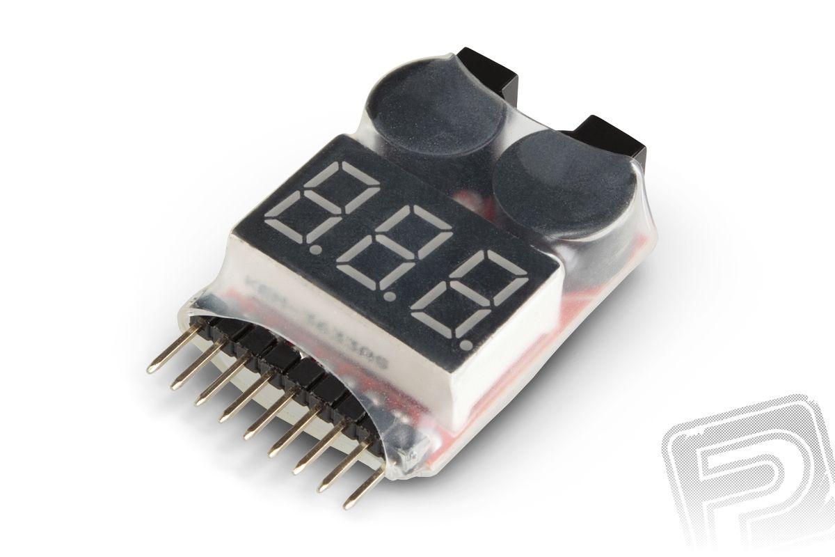 LiPo alarm 2-8S - zvuková signalizace napětí RC system
