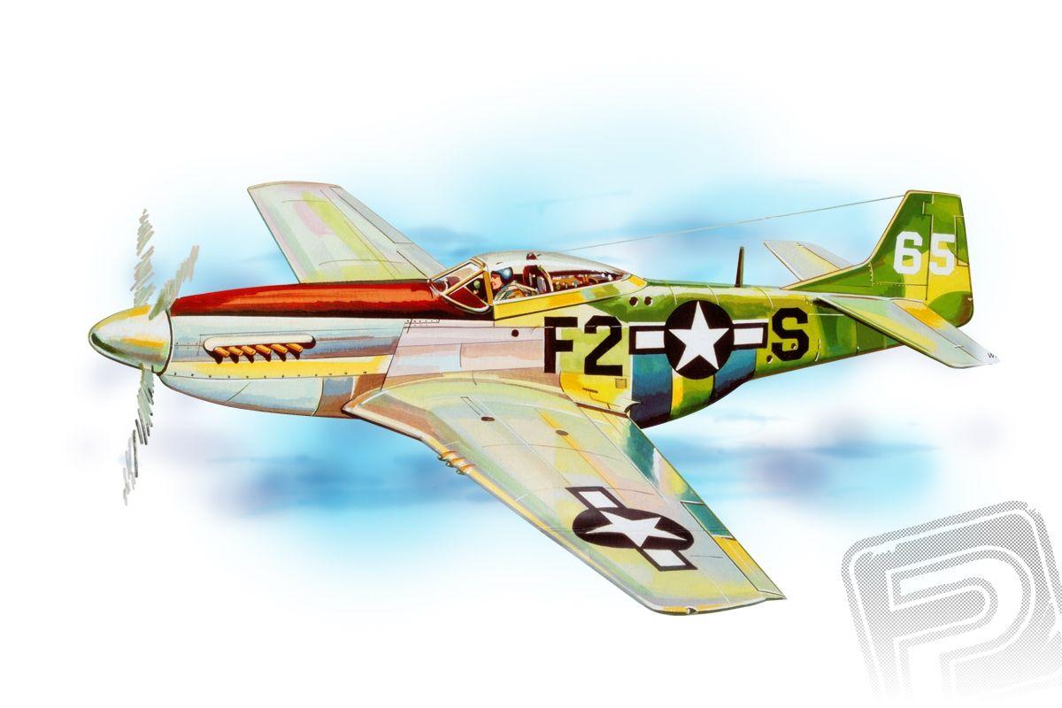 P-51 Mustang (705mm) laser.vyřezávaný